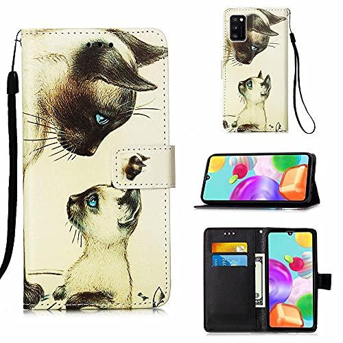 MUTOUREN Funda Samsung Galaxy A41, con Gratis Protector Pantalla, Cuero PU y...