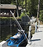 Mooring Whips for Jet skis by General Marine This Model is Call The Deck Mounted Fixed Position. Solid and Strong Marine Grade Powder Coated Aluminum Pole Supports. Solid 1' x 7' Fiberglass Poles.