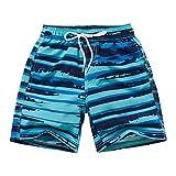Adorel Bañadores Natación Shorts Playa con Forro para Niño Azul Turquesa 13-14 Años