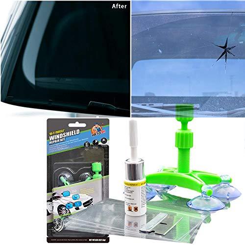 Auto Windschutzscheiben Reparaturset Werkzeug, Windschutzscheiben Reparaturset Für PKW Chip Und Crack, Bullseye, Spinnennetz, Sternförmig, Kerben, Halbmond-Halbmonde Für Steinschlag Reparaturset