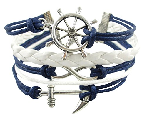 MBOX Vintage Design Infinity Fashion Rope Leather Bracelet Collection