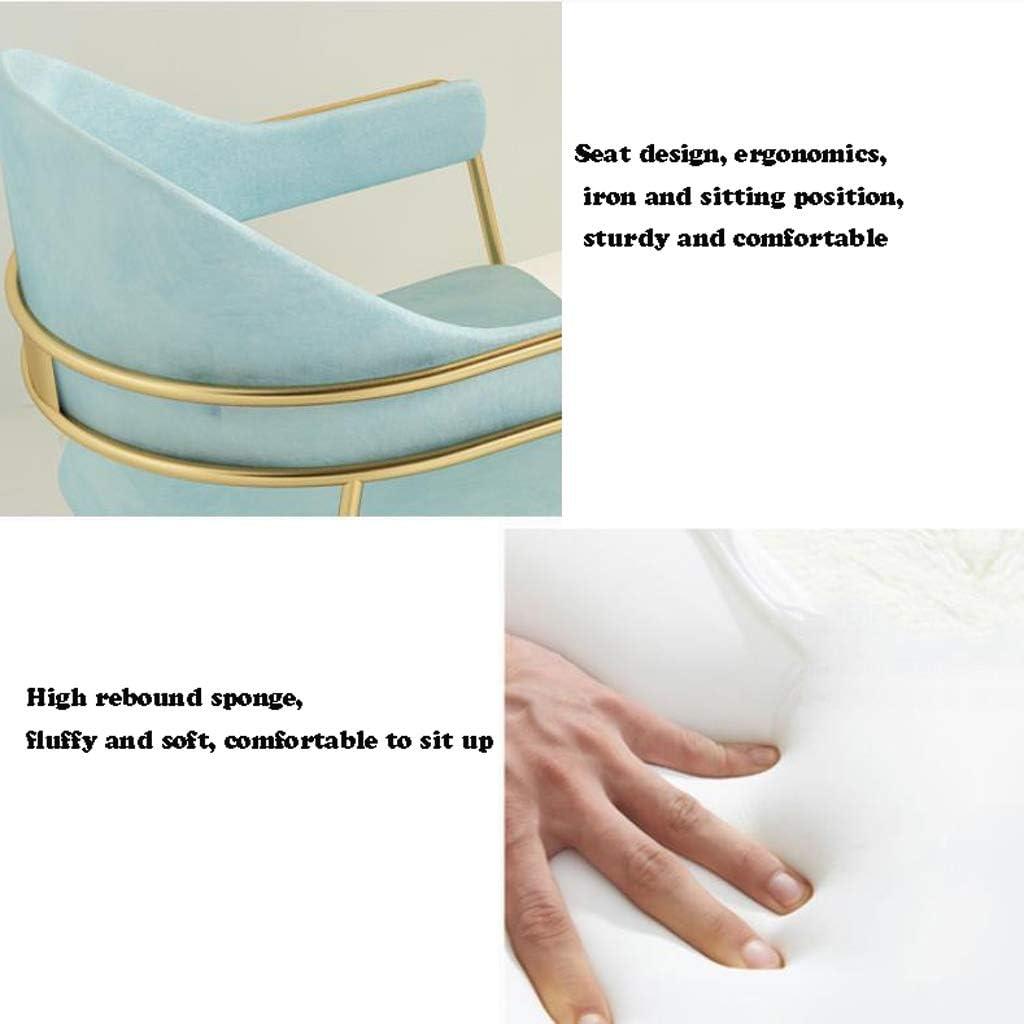Stable Simple chaise bureau étudiant et chaise de maquillage tabouret retour à la maison à manger chaise d'ordinateur Gratuit (Color : Blue) Green