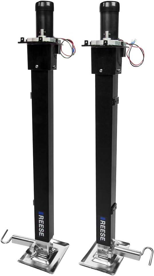 Reese 500708 Fifth Wheel RV Landing Gear System, Single Output 8K Static, 8K Lift