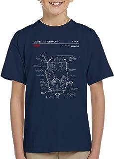 NASA Russian Mini Research Module 2 Blueprint Kid's T-Shirt