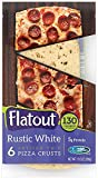 Flatout Thin Pizza Crust, Rustic White (1 Pack of 6 Pizza Crusts)