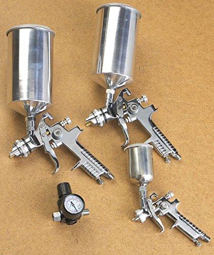 Vaper 19220 HVLP Triple Set-Up Spray Gun Kit - 4 Piece