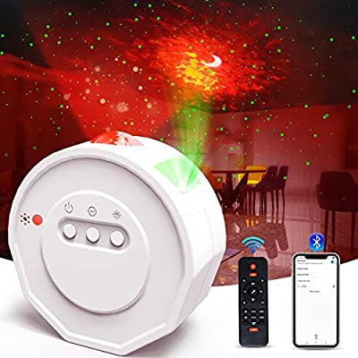 3 in 1 Galaxy Projector Light,Star Projector with Bluetooth Speaker,Sound Activated Design,Starry Night Projector with 28 Light Modes,Remote Control,Night Light Projector for Kids Adults