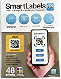 QR Smart Labels - Scannable Labels for Storage and Organization (Color Coded, Free iOS & Android App) - Pack of 48