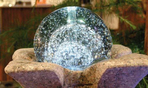 Glaskugel 15 cm incl. Drehteller für Ihr Wasserspiel Gartenbrunnen Springbrunnen