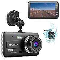 """Dash Camera for Cars,hyleton 1080P HD Dual Dash Cam Front and Rear,4"""" IPS Screen Dashboard Camera Recorder,170°Wide Angle, G-Sensor,WDR, Night Vision,Loop Recording, Parking Monitor, Motion Detection from hyleton"""
