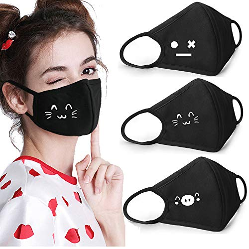 Coolha Cotton Mouth Cover Party Fashion Anime Cartoon Women Men Costume mask (001)