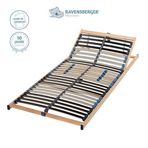 Ravensberger Matratzen Lattenrost Basis (Pura Med) VARIABEL Lattenrost | 7-Zonen-Birke-Lattenrahmen | 28 Leisten| Verstellbar| KLAPPRAHMEN - Made IN Germany | 100 x 200 cm