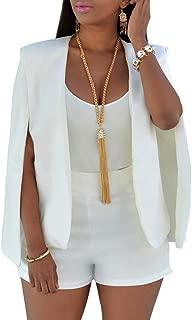 Women's Open Front Casual Cape Blazer Wear to Work Solid Suit Coat
