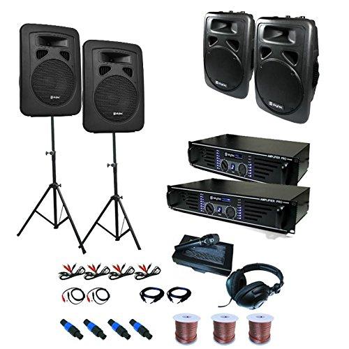 Sidney Equipo PA 2 x Amplificador 4 x Altavoz