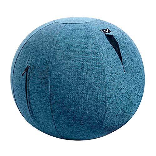 シーティングボール バランスボール エクササイズボール ルーノ シェニール 耐荷重 120kg おしゃれ インテリア すべり止め ダイエット 軽量 トレーニング 洗濯可 ファブリック 安全設計 プレゼント [ブルー]