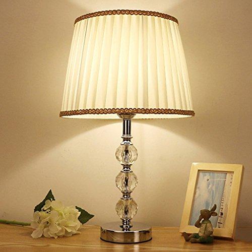 SKC Lighting-lampe de table Petite lampe Lampe de cristal simple moderne Lampe de chevet de chambre à coucher / E27 (Couleur : #a)