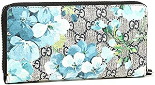 641cbf7637a Gucci Blooms Flower Wallet Travel Large Zip around Box Bloom Navy Blue  Italy New