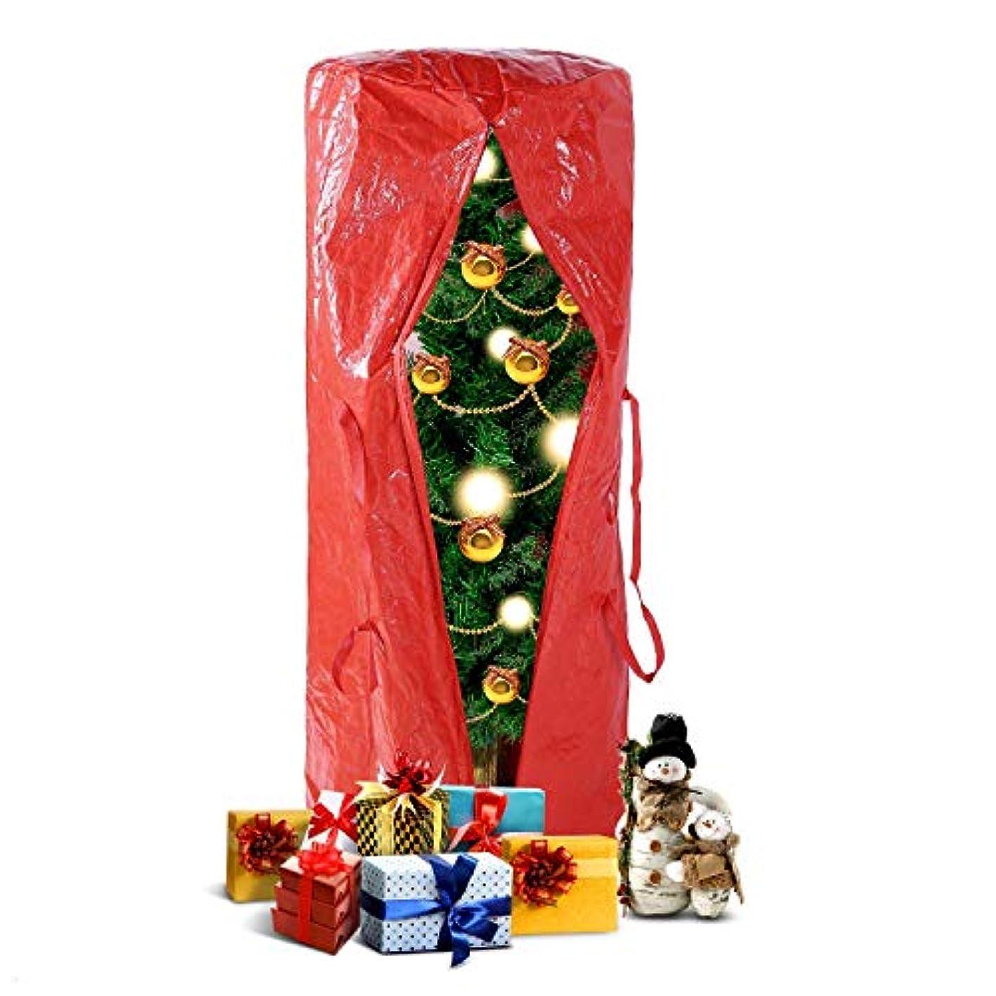 Ohuhu Christmas Tree Storage Bag 5.2' x 2.1' x 2.1' for 5 Foot Tree or 9 Foot Disassembled Christmas Tree, Multipurpose Storage Bag, Red