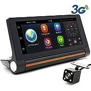 "junsun Camera GPS Navigation and Dash Camera 7"" Android 3G Bluetooth Front/Back"