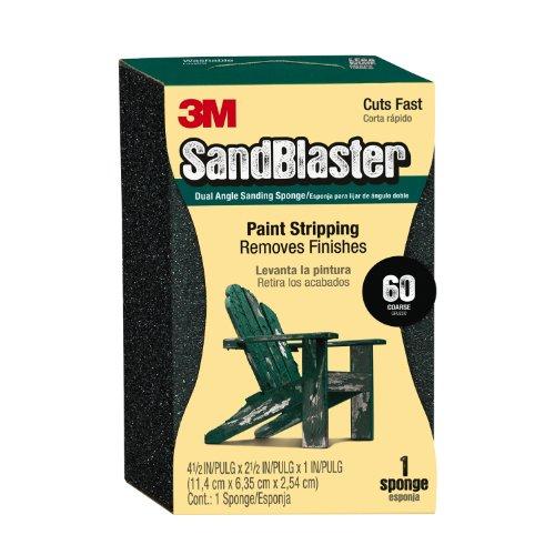 3MSandBlaster Dual Angle Sanding Sponge, 60-Grit, 2.625 in by 4.5 in (9558)