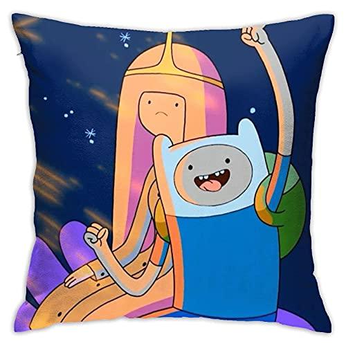 qidong Adventure Time Finn Jak - Almohada de anime de dibujos animados de anime (45,7 x 45,7 cm)