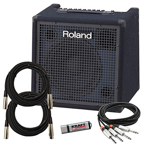 Check Out This Roland KC400 Stereo Mixing Keyboard Amplifier with Cables and USB drive