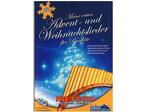 Meine ersten Advent- und Weihnachtslieder, für Panflöte