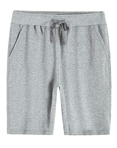 Weintee Women's Soft Knit Bermuda Shorts with Pockets XL Oxford Gray