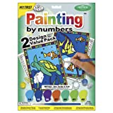Royal Brush My First Paint By Number Kit 8.75 by 11.375-Inch-Sea Turtle and Fish, 2/projects(422094)