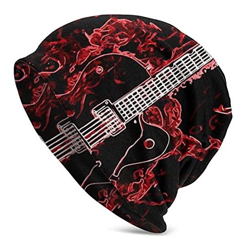 Beanie Hat Fires Guitarra Hombres Mujeres Sombreros...