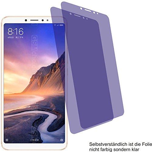 4ProTec I 2X Crystal Clear klar Schutzfolie für Xiaomi Mi Max 3 Bildschirmschutzfolie Displayschutzfolie Schutzhülle Bildschirmschutz Bildschirmfolie Folie