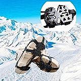 DUNRU Crampones Montañismo de Invierno Zapatos universales Crampones Nieve Caminando Multiusos Multiusped Hielo Picaciones Escalada Senderismo Clases 24 Dientes Crampones Nieve Hielo (Shoe Size : M)