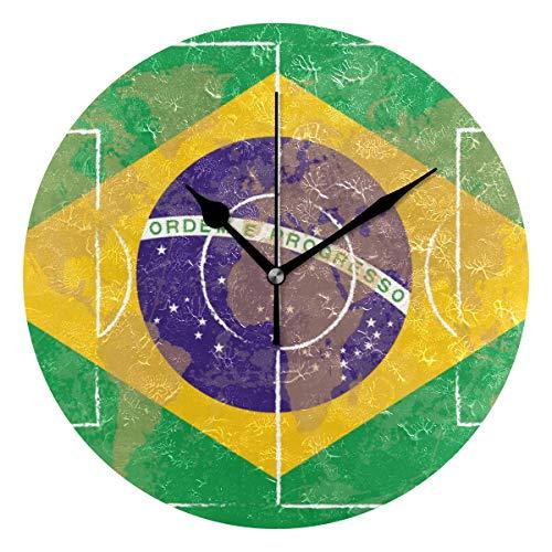 Montoj - Reloj de pared con pilas, diseño retro
