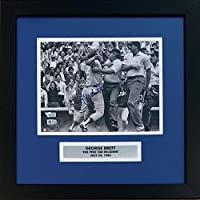 George Brett Autographed Kansas City Royals Pine Tar Incident Signed Baseball 8x10 Framed Photo MLB Fanatics Authenticated COA