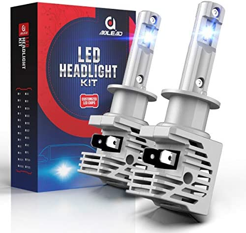 AOLEAD H1 LED Headlight Bulb 50W 6500K Cool White Fanless Conversion Kit All in One product image