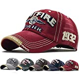 Yutdeng Gorra de béisbol Hip Pop para Hombres Bordado Ajustable de algodón Classic Gorra Vintage Verano Sombreros de...