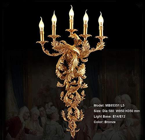 Vintage wandlamp kaars luxe wandlamp voor hotel Villa slaapkamer Bracket verlichting wandlampen lampen