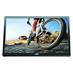 "AOC E1649FWU 16"" USB-Powered Portable LED Monitor - Glossy Black"
