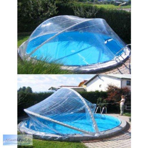 Cabrio Dome Überdachung, Pool Abdeckung für Stahlmantel Ovalbecken, Größe:5.30 x 3.20 m