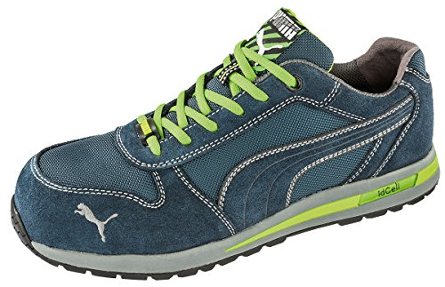 Puma 643040-360-39 - Scarpe antinfortunistiche Airtwist Low S1P HRO SRC, taglia 39, colore: Blu/Verde/Grigio