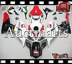 Auctmarts Injection Fairing Kit ABS Plastics Bodywork with FREE Bolt Kit for Honda CBR1000RR CBR 1000 RR 2006 2007 White Red Black Konica Minolta (P/N:1e55)