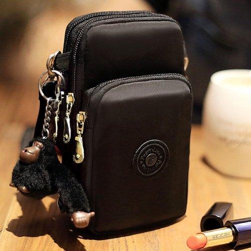alsatek Universal tas schoudertas gemaakt van stof polystyreen voor LG K3 2017 zwart