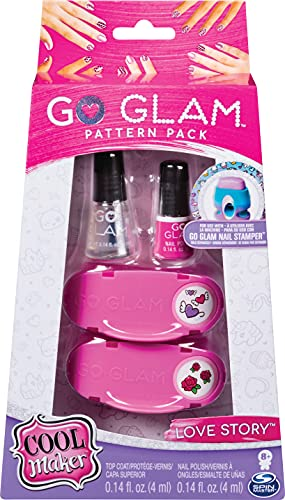 Cool Maker - 6046865 - Loisirs Créatifs - Recharges Go Glam Nail Stamper Large - Machine à manucure - Modèle Love Story
