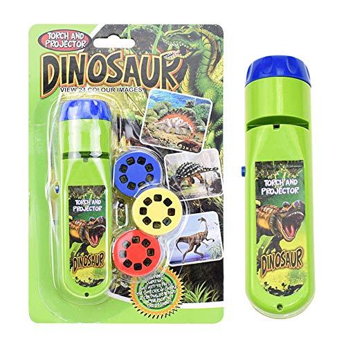 URFEDA Projektor Taschenlampe Kinder Projektionsbeleuchtung, 24 Bilder Tier Dinosaurier Projektor Kleine Lampe Pädagogisches Lernen Schlafenszeit Nachtlicht Spielzeug für Kinder,Dinosaurier