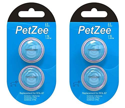 4 pcs Petsafe Compatible Battery RFA-67 Replacement Batteries fit PIF-275-19 PRF-3004W PUL-250 4P