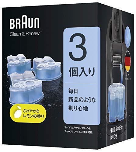 『【99.9%除菌】ブラウン アルコール洗浄液 (3個入) メンズシェーバー用 CCR3 CR[正規品]』の1枚目の画像
