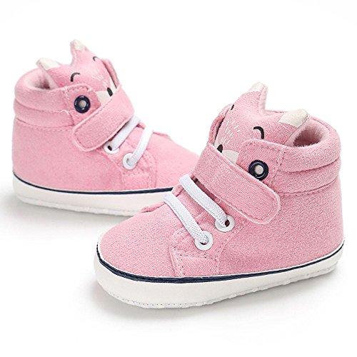 Zhen+zhen Unisex Designs Mode Karikatur Freizeit Turnschuhe, Niedlich Baby Säugling Kind Junge Mädchen Princess Anti-Rutsch Weiche Sohle Kleinkind Schuhe Leinwand Sommer Sneaker (6-12M, Rosa)