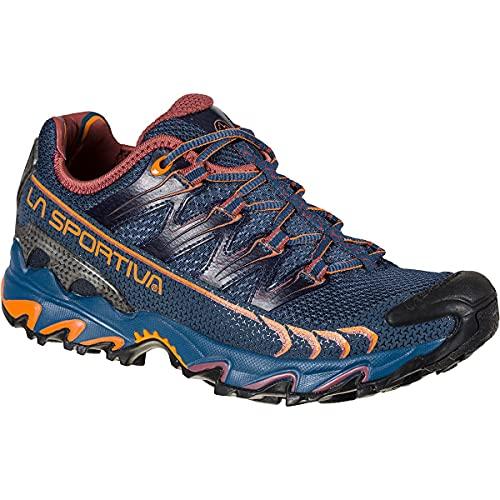 LA SPORTIVA Ultra Raptor Woman, Zapatillas de Trail Running Mujer, Denim/Rouge, 40 EU