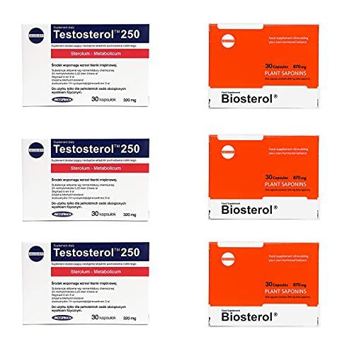 MEGABOL TESTOSTEROL + BIOSTEROL | Anabole Testosteron-Booster | Hormonelle Unterstützung | Aktivator für das Muskelmassewachstum | Sportergänzungen | (Testosteron 90 Kapseln + Biosterol 90 Kapseln)