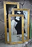 Livitat Wandspiegel Spiegel Badspiegel barock antik Gold 120 x 60 cm